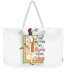 Kissing Cooking Weekender Tote Bag