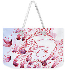 Koi Carp Tattoo Art Weekender Tote Bag