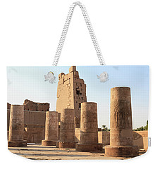 Weekender Tote Bag featuring the photograph Kom Ombo by Silvia Bruno