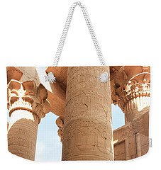Weekender Tote Bag featuring the photograph Kom Ombo Temple by Silvia Bruno