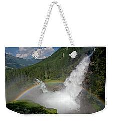 Krimml Waterfall And Rainbow Weekender Tote Bag