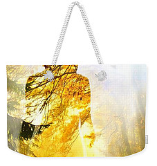 Lady Autumn Weekender Tote Bag by Lilia D