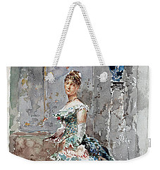 Lady In Formal Dress Weekender Tote Bag