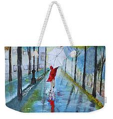 Lady In Red Original Version Weekender Tote Bag by Dick Bourgault