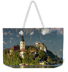 Weekender Tote Bag featuring the photograph Lake Bled by Brian Jannsen