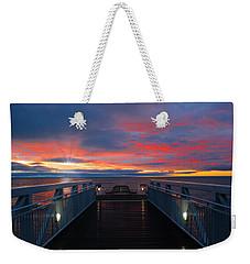Lake Huron Sunrise Weekender Tote Bag