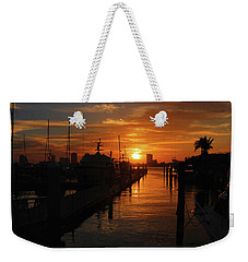 Weekender Tote Bag featuring the photograph 1- Lake Park Marina by Joseph Keane