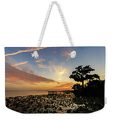 Lake Sunrise Weekender Tote Bag