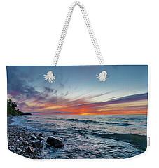 Lake Superior Sunset Weekender Tote Bag