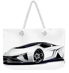 Weekender Tote Bag featuring the drawing Lamborghini by Brian Gibbs