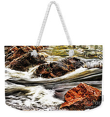Weekender Tote Bag featuring the photograph Lamina Flow by Blair Stuart