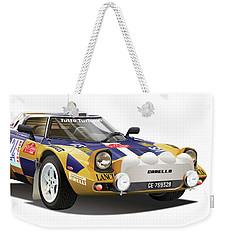 Lancia Stratos Hf Weekender Tote Bag