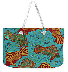 Large Barramundi Swimming  Weekender Tote Bag
