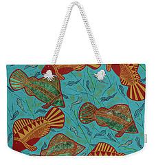Large Barramundi Swimming  Weekender Tote Bag