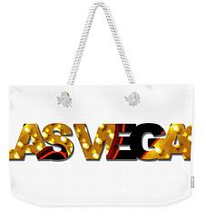 Las Vegas Word Art Weekender Tote Bag