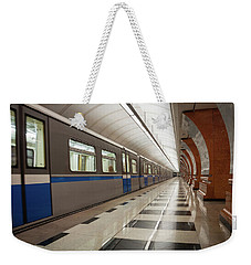 Weekender Tote Bag featuring the photograph Last Train Home by Geoff Smith