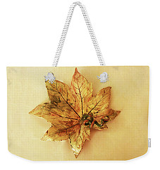 Leaf Plate1 Weekender Tote Bag by Itzhak Richter