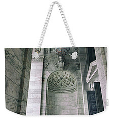 Weekender Tote Bag featuring the photograph Library Portico by Jessica Jenney