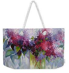 Lilac Flowers Weekender Tote Bag