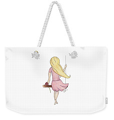 Weekender Tote Bag featuring the painting Lillian by Betsy Hackett