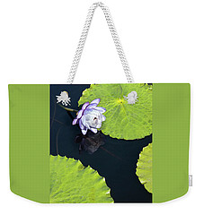 Weekender Tote Bag featuring the photograph Lily Love by Suzanne Gaff