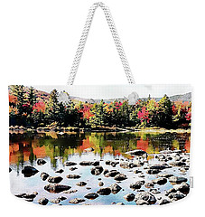 Weekender Tote Bag featuring the photograph Lily Pond, Kancamagus Highway - New Hampshire  by Joseph Hendrix