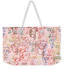 line faces I Weekender Tote Bag