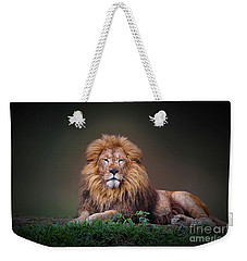 Lion King Weekender Tote Bag by Charuhas Images