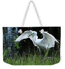 Little Blue Heron Hunting - Digitalart Weekender Tote Bag