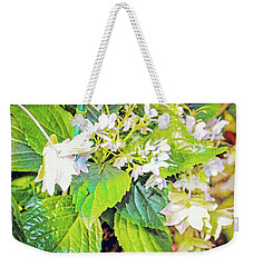 Weekender Tote Bag featuring the photograph Little Orchids by Mindy Newman