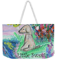 Little Sweet Pea With Title Weekender Tote Bag by Diane Pape