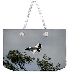Weekender Tote Bag featuring the photograph Lockheed Martin F-35 Lightning II by Shirley Mitchell