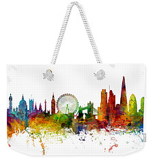 London England Skyline Panoramic Weekender Tote Bag