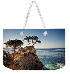 Lone Cypress Tree Weekender Tote Bag by James Hammond