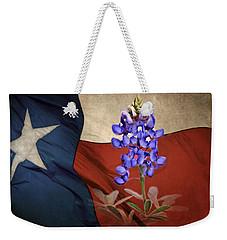 Lone Star Bluebonnet Weekender Tote Bag