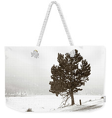 Weekender Tote Bag featuring the photograph Lone Tree by Marilyn Hunt