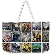 Weekender Tote Bag featuring the mixed media Panorama Digital Graphics 1 by Pemaro