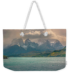 Weekender Tote Bag featuring the photograph Los Cuernos  by Andrew Matwijec