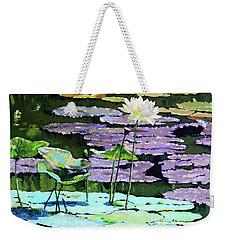 Lotus Reflections Weekender Tote Bag