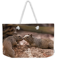 Weekender Tote Bag featuring the photograph Love Is In The Air  by Saija Lehtonen