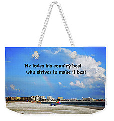 Weekender Tote Bag featuring the photograph Love Of Country by Gary Wonning