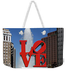 Weekender Tote Bag featuring the photograph Love - Philadelphia by Bill Cannon