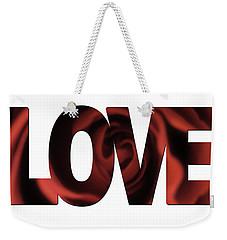 Love Word Art Weekender Tote Bag