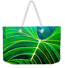Weekender Tote Bag featuring the painting Lovely Greens by Debbie Chamberlin