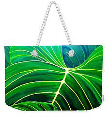 Lovely Greens Weekender Tote Bag by Debbie Chamberlin
