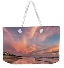 Weekender Tote Bag featuring the photograph Low Tide Mirror by Debra and Dave Vanderlaan
