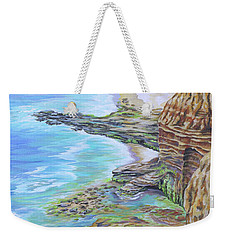 Low Tide Sunset Cliffs Weekender Tote Bag
