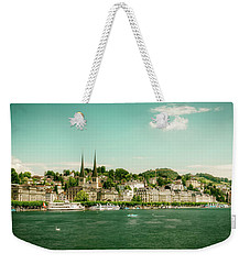 Weekender Tote Bag featuring the photograph Lucerne Panorama by Wolfgang Vogt