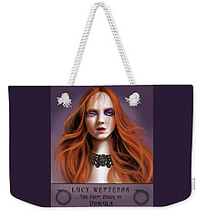 Weekender Tote Bag featuring the painting Lucy Westenra by James Christopher Hill