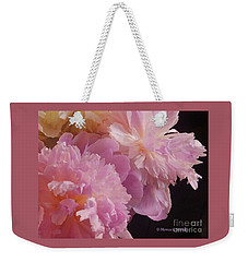M Shades Of Pink Flowers Collection No. P66 Weekender Tote Bag